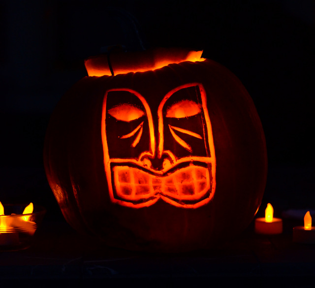 Carving Pumpkins with a Tiki Twist