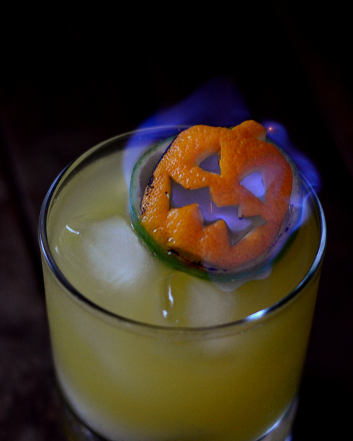 How to Make A Flaming Jack O' Lantern Tiki Garnish