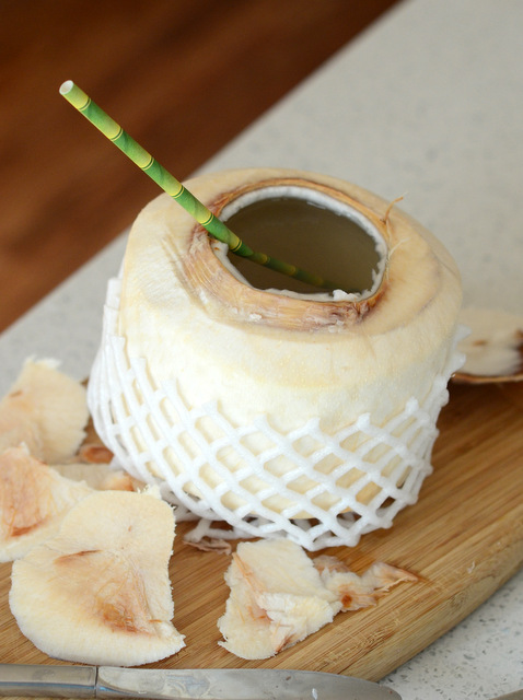 How to Easily Open a Young Coconut